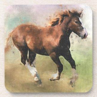 Horses cork coasters fuji_coaster