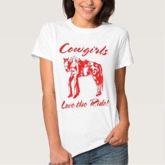 HORSES COWGIRLS LOVE  RIDING SHIRT