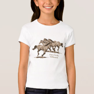 Horses: Dare To Be Different: Pencil Art T-Shirt