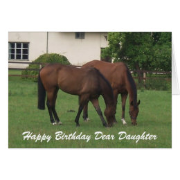 Horse birthday for daughter cards greeting photo cards zazzle horses daughter birthday card bookmarktalkfo Images