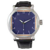 Horses' Den Blue and Orange Wrist Watches