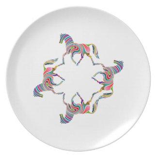 Horses Dinner Plate