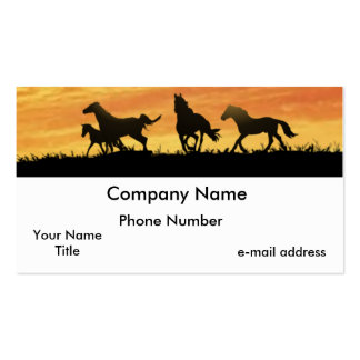 Horses Double-Sided Standard Business Cards (Pack Of 100)
