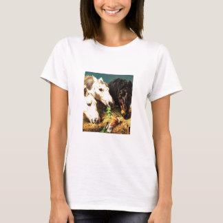 Horses eating hay T-Shirt
