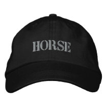 HORSES EMBROIDERED BASEBALL HAT
