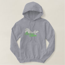 Horses Embroidered Hoodie