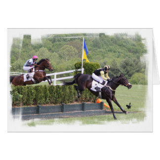 Horses Eventing  Greeting Card