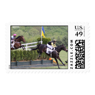 Horses Eventing Postage Stamp