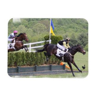 Horses Eventing  Premium Magnet