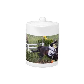 Horses Eventing Teapot