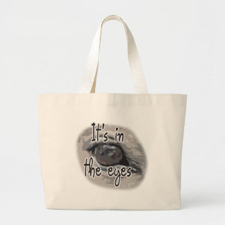 Horse's Eye - It's In The Eyes Large Tote Bag