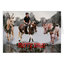 Horses fancydress Christmas card