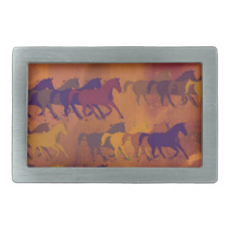 horses farm pattern belt buckles