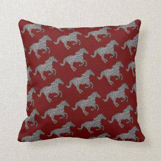 horses farm pattern decor throw pillows