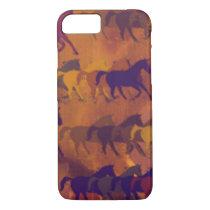 horses farm pattern iPhone 8/7 case