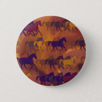 horses farm pattern pinback button