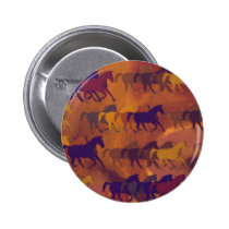 horses farm pattern pinback button