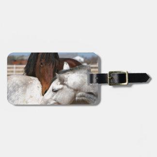 horses farm ranch equine western sports love bag tag