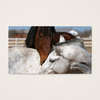 horses farm ranch equine western sports love business card