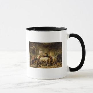 Horses Feeding in the Stable Mug