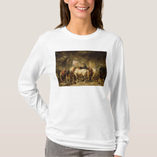 Horses Feeding in the Stable T-Shirt
