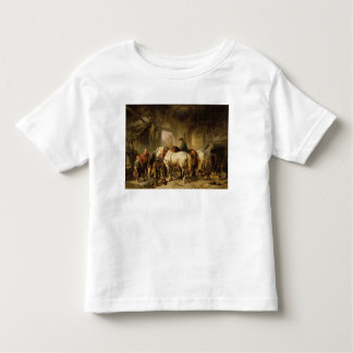 Horses Feeding in the Stable Toddler T-shirt