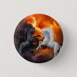 Horses fighting in a bad lightning storm button