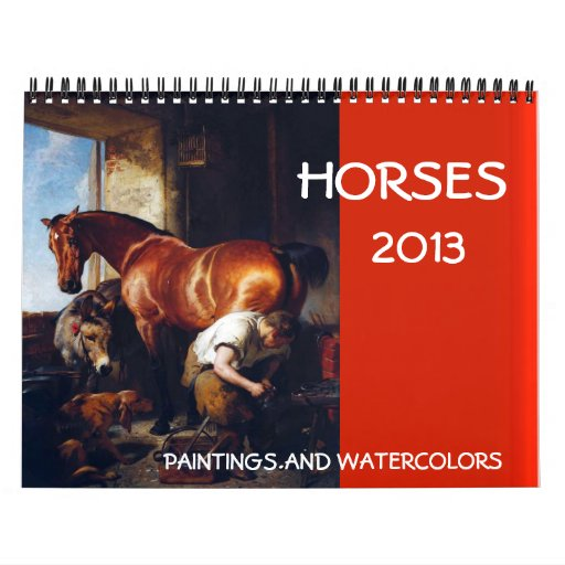 HORSES FINE ART COLLECTION  Paintings And Drawings Wall Calendar