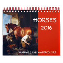 HORSES FINE ART COLLECTION  Paintings And Drawings Calendar