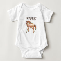 HORSES FIRST BABY BODYSUIT