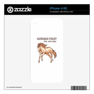 HORSES FIRST DECAL FOR THE iPhone 4