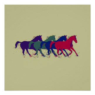 Horses for walls poster