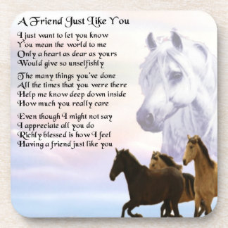 Horses - Friend Poem Coaster