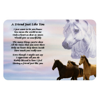 Horses Friend Poem Magnet