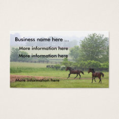 Horses Galloping Business Cards at Zazzle
