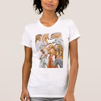 Horses Galore Ladies Scoop Neck Shirt