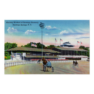 Horses Getting a Morning Workout on the Track Print