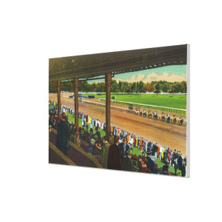 Horses Going to the Post at Race Track Canvas Print