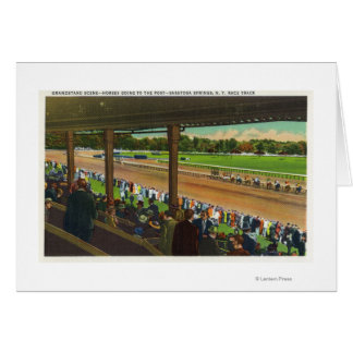 Horses Going to the Post at Race Track Card