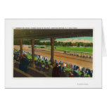 Horses Going to the Post at Race Track Cards