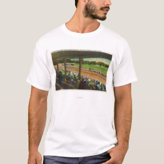 Horses Going to the Post at Race Track T-Shirt