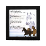 Horses Grandaughter poem Keepsake Boxes