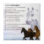 "Horses Grandaughter poem Tile<br><div class=""desc"">A lovely gift for a special granddaughter</div>"