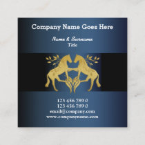 Horses graphic faux gold blue leaf crest horse