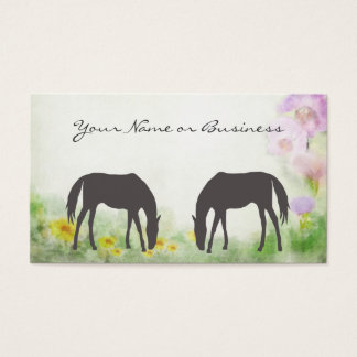 Horses Grazing Business or Personal Calling Card