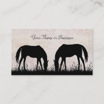 Horses Grazing Business or Personal Calling Cards