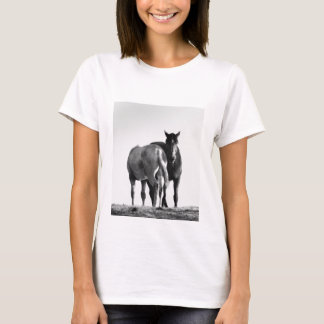 Horses Grazing Tee Shirt Fitted