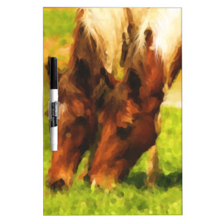 Horses Grazing Together Dry-Erase Board