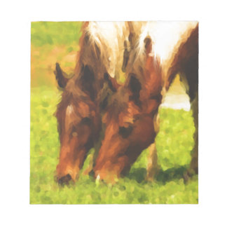 Horses Grazing Together Notepad