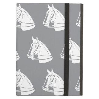 Horses Grey white iPad Air Covers
